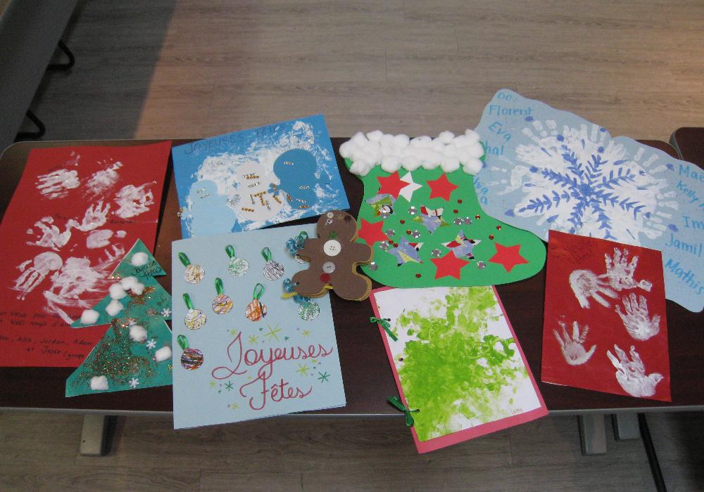Des cartes créées par les petits de Saint-Hubert pour nos aînés !