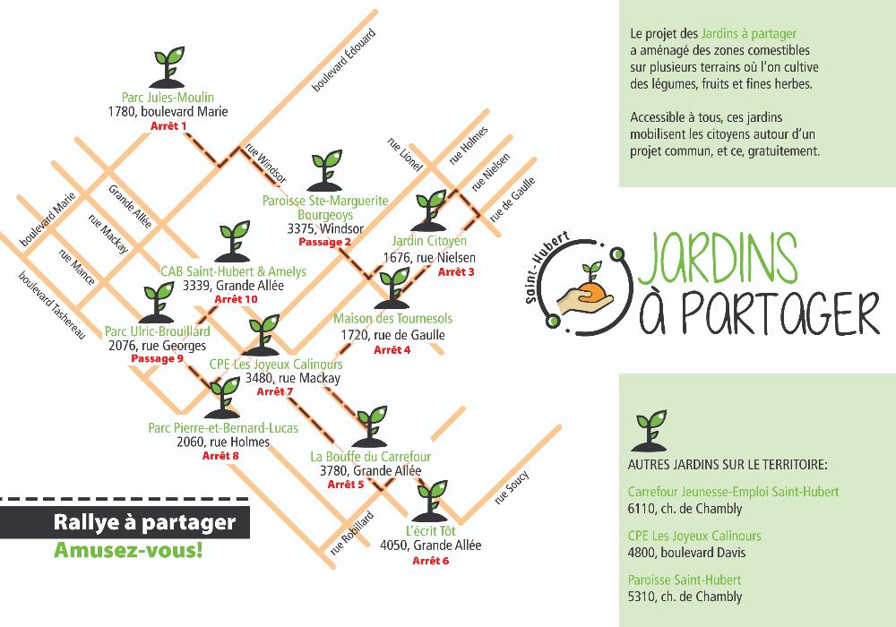 Rallye découverte gratuit des « Jardins à partager Saint-Hubert »